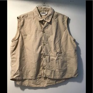Chicos Button Down crop top large